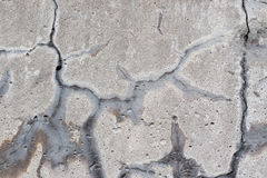 Sructure destruyó la pared del cemento Imagenes de archivo