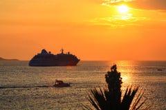 Sruise skepp Arkivfoto