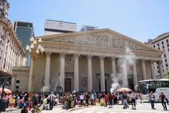 SS三位一体,布宜诺斯艾利斯大教堂教会假日太阳的 免版税库存照片