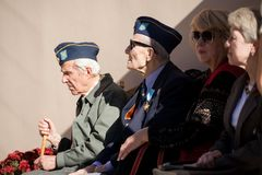 SS分部加利西亚的退伍军人 乌克兰,利沃夫州, 2018年10月13日 库存图片