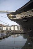 SS大英国这艘历史的船弓在布里斯托尔英国 免版税库存照片