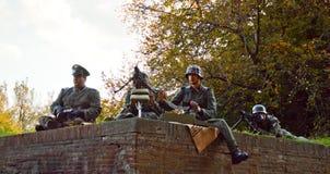 SS żołnierze przy Lucca komiczkami 2014 i grami fotografia royalty free