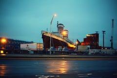 SS Ηνωμένες Πολιτείες στην ομίχλη Στοκ Φωτογραφία