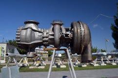 SS-18撒旦RS-20V - Voevoda的部分 洲际的核弹道导弹 免版税库存图片