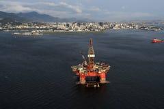 SS77石油平台 库存图片