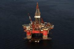 SS77石油平台 免版税库存图片
