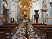 SS Annunziata Church in Turijn stock afbeeldingen