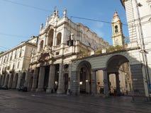 SS Annunziata Church in Turijn royalty-vrije stock afbeeldingen