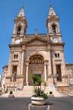 SS. Cosma e Damiano Basilica. Alberobello. Apulia. Stock Images