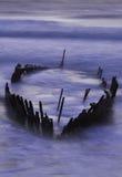 SS Dicky onder water gezet door koningsgetijde en onweren Stock Afbeeldingen