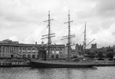 SS Great Britain ship in Bristol in black and white Royalty Free Stock Photo