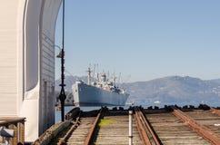 SS Jeremiah O\'Brien ship at San Francisco Bay royalty free stock photos