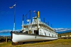 SS Klondike Sternwheeler/Paddlewheeler Река Юкон Стоковое Изображение RF