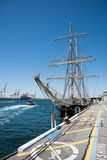 SS Leeuwin II and Commercial Dock Stock Photo