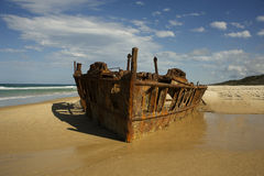 The SS Maheno of Fraser Island stock photography