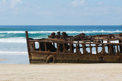 SS Maheno Shipwreck stock images