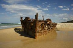SS Maheno van Fraser Island Stock Fotografie