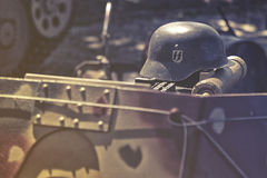 SS Nazi helmet. Close up on SS Nazi helmet Royalty Free Stock Images