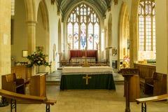 Ss Peter ed altare Northleach Inghilterra della chiesa di parrocchia di Paul Fotografia Stock