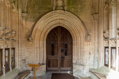 SS Peter and Paul parish church Entrance Door Northleach England Royalty Free Stock Photo