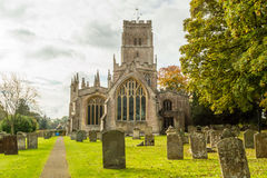 SS Peter and Paul parish church West Facade A Northleach England royalty free stock images