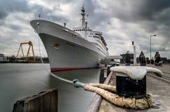 SS Rotterdam. Een geweldig schip: De SS Rotterdam. holland america lijn Royalty Free Stock Images