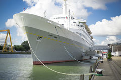 SS Rotterdam en puerto Imagen de archivo libre de regalías