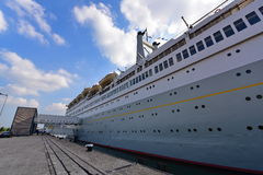 SS Rotterdam known as the Grande Dame, a retired ship converted into a hotel Royalty Free Stock Photography