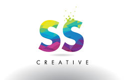 SS S S Colorful Letter Origami Triangles Design Vector. Royalty Free Stock Photo