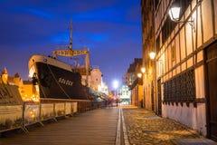 SS SOLDEK on Motlawa river in Gdansk Royalty Free Stock Photos