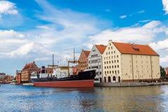 SS SOLDEK on Motlawa river in Gdansk Stock Photos