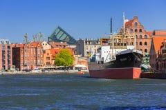 SS SOLDEK on Motlawa river in Gdansk Stock Photography