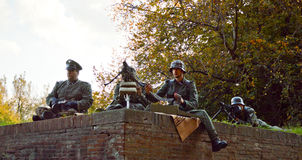 SS Soldiers at Lucca Comics and Games 2014 Royalty Free Stock Photography