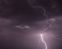 SS141 Lightning Bolt Sky Clouds Royalty Free Stock Photo