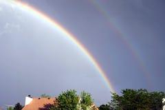 SS150 de Wolken van regenbogen royalty-vrije stock afbeelding