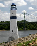 SS154 Light house River. Rive Light House Shoreline Stock Photos