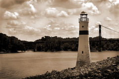 SS158 Light house River Royalty Free Stock Photos
