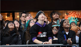 SS4 Fans in Times Square Royalty Free Stock Image