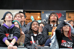 SS4 Fans in Times Square Stock Photography