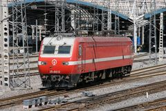 SS7E Electric Locomotive Royalty Free Stock Images