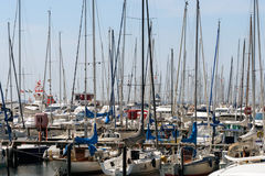 Ssailing yachts at a port of Baltic Sea. Northern Germany, coast of Baltic Sea am 09.06.2016 Royalty Free Stock Photos
