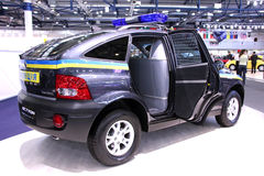Ssang Yong Actyon police crossover  Stock Images