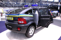 Ssang Yong Actyon police crossover Stock Image