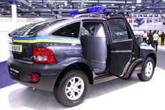 Ssang Yong Actyon police crossover Royalty Free Stock Photo