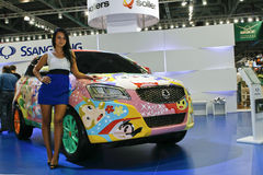 SsangYong. At the Moscow International Automobile Salon (MIAS-2010) August 25 - September 5 Stock Images
