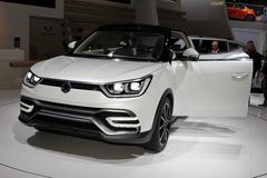 The Ssangyong e-Xiv Concept Stock Images