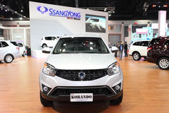 Ssangyong  KORANDO car on display Stock Photos