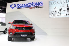 Ssangyong  KORANDO car on display Royalty Free Stock Photo