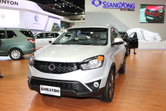 Ssangyong  KORANDO car on display Stock Photography