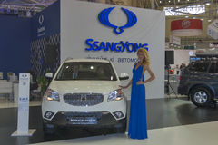 SsangYong Korando car model presentation Stock Image